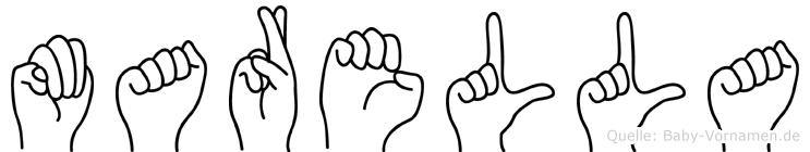 Marella im Fingeralphabet der Deutschen Gebärdensprache