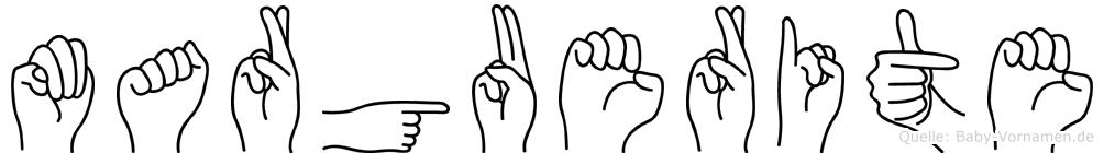 Marguerite in Fingersprache für Gehörlose