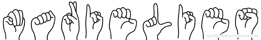Marielies in Fingersprache für Gehörlose