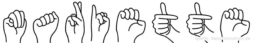 Mariette in Fingersprache für Gehörlose