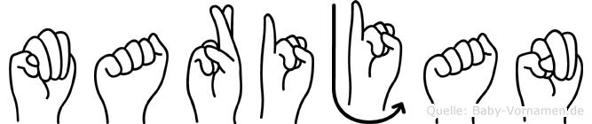 Marijan in Fingersprache für Gehörlose