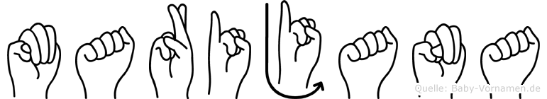 Marijana in Fingersprache für Gehörlose