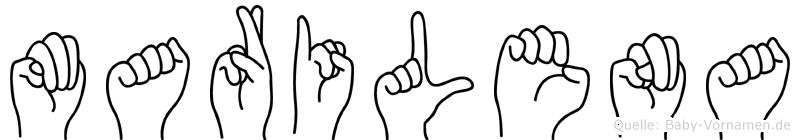Marilena in Fingersprache für Gehörlose