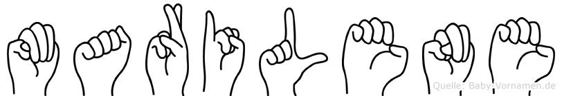 Marilene in Fingersprache für Gehörlose