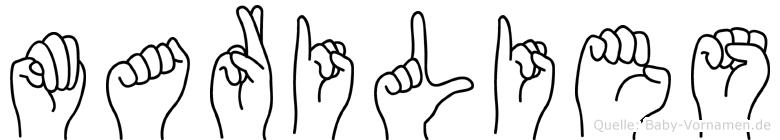 Marilies im Fingeralphabet der Deutschen Gebärdensprache