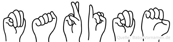 Marine in Fingersprache für Gehörlose