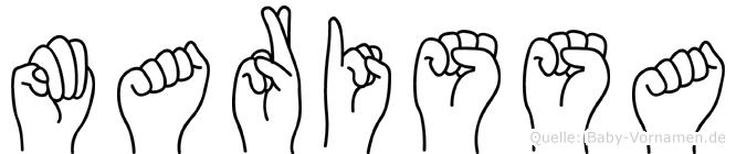 Marissa im Fingeralphabet der Deutschen Gebärdensprache