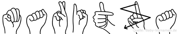 Maritza im Fingeralphabet der Deutschen Gebärdensprache