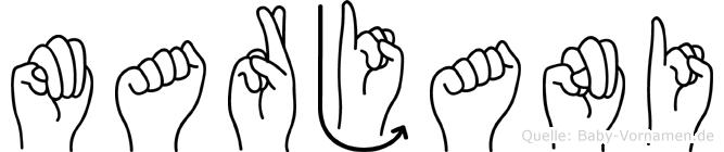 Marjani in Fingersprache für Gehörlose