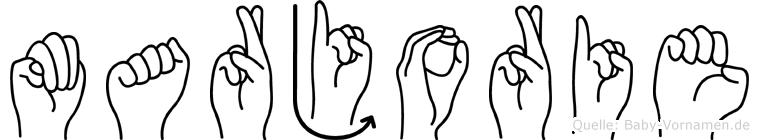 Marjorie in Fingersprache für Gehörlose