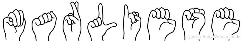 Marliese in Fingersprache für Gehörlose