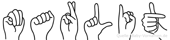 Marlit im Fingeralphabet der Deutschen Gebärdensprache