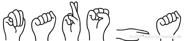 Marsha im Fingeralphabet der Deutschen Gebärdensprache