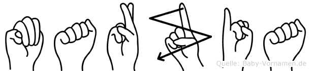Marzia in Fingersprache für Gehörlose