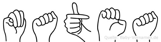 Matea in Fingersprache für Gehörlose