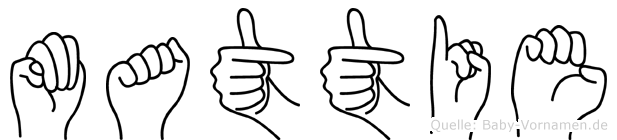 Mattie in Fingersprache für Gehörlose