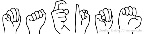 Maxine in Fingersprache für Gehörlose