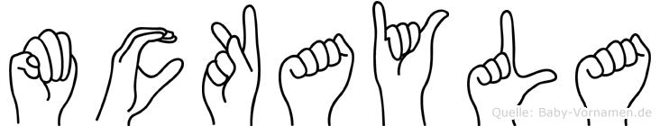 Mckayla im Fingeralphabet der Deutschen Gebärdensprache