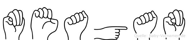 Meagan in Fingersprache für Gehörlose