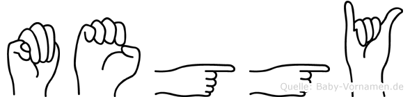 Meggy im Fingeralphabet der Deutschen Gebärdensprache