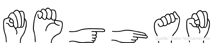 Meghan im Fingeralphabet der Deutschen Gebärdensprache