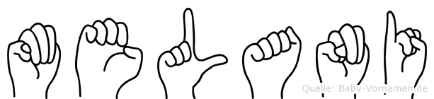Melani in Fingersprache für Gehörlose