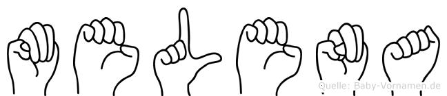 Melena im Fingeralphabet der Deutschen Gebärdensprache