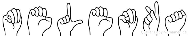 Melenka im Fingeralphabet der Deutschen Gebärdensprache