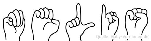 Melis in Fingersprache für Gehörlose