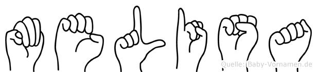Melisa im Fingeralphabet der Deutschen Gebärdensprache