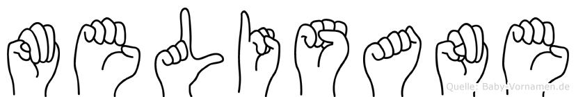 Melisane im Fingeralphabet der Deutschen Gebärdensprache