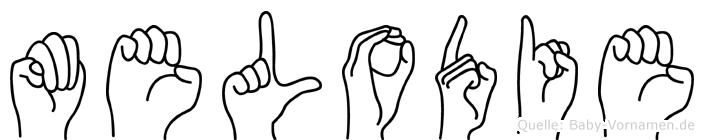 Melodie im Fingeralphabet der Deutschen Gebärdensprache