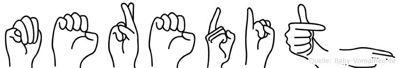 Meredith in Fingersprache für Gehörlose
