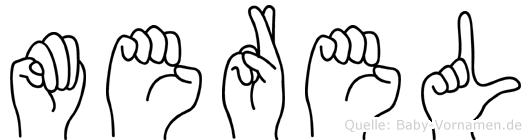 Merel im Fingeralphabet der Deutschen Gebärdensprache