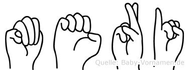 Meri im Fingeralphabet der Deutschen Gebärdensprache