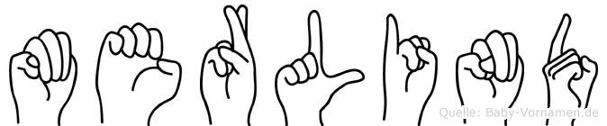 Merlind im Fingeralphabet der Deutschen Gebärdensprache