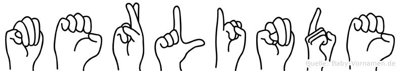 Merlinde im Fingeralphabet der Deutschen Gebärdensprache