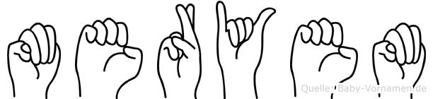 Meryem in Fingersprache für Gehörlose