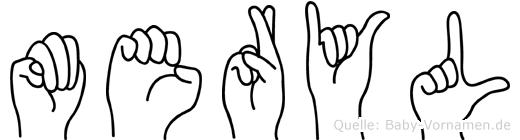 Meryl in Fingersprache für Gehörlose