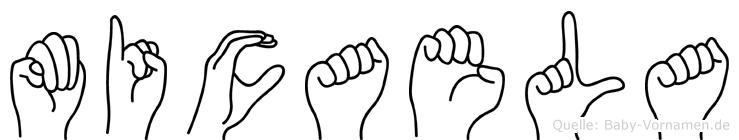 Micaela im Fingeralphabet der Deutschen Gebärdensprache