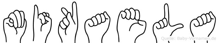 Mikaela im Fingeralphabet der Deutschen Gebärdensprache