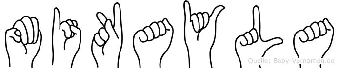 Mikayla im Fingeralphabet der Deutschen Gebärdensprache