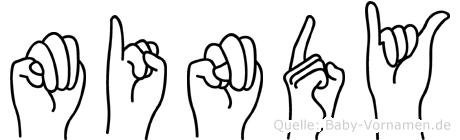 Mindy in Fingersprache für Gehörlose