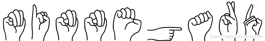 Minnegard in Fingersprache für Gehörlose