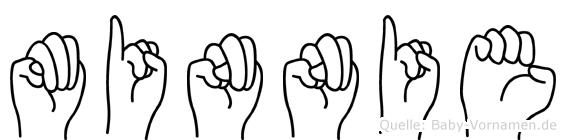 Minnie in Fingersprache für Gehörlose