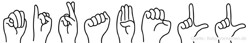 Mirabell im Fingeralphabet der Deutschen Gebärdensprache