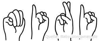 Miri im Fingeralphabet der Deutschen Gebärdensprache