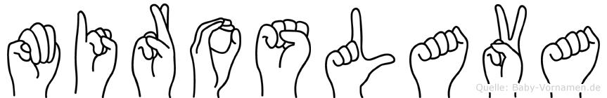 Miroslava im Fingeralphabet der Deutschen Gebärdensprache