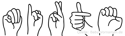 Mirte in Fingersprache für Gehörlose