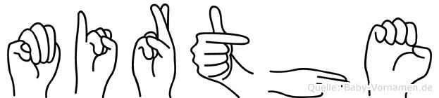 Mirthe in Fingersprache für Gehörlose